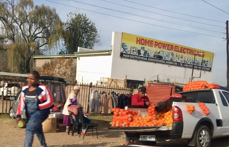 Oranges for sale on the street. — in Maseru, Lesotho.