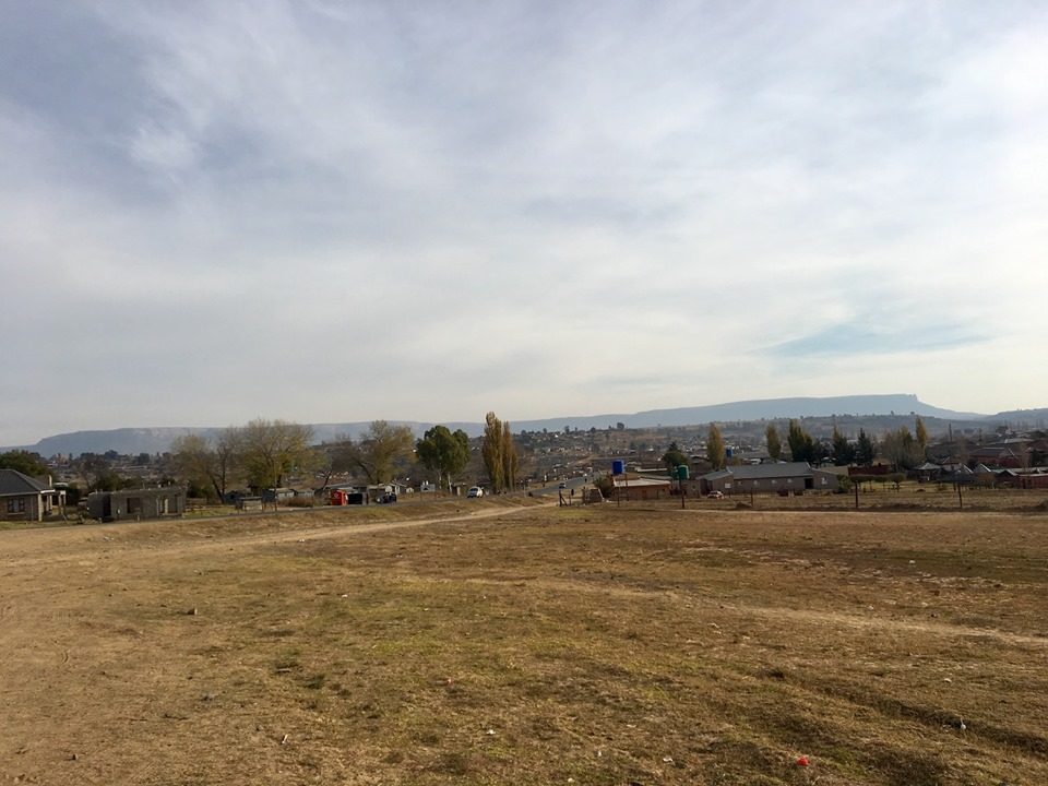 The view from our starting spot. — in Maseru, Lesotho.