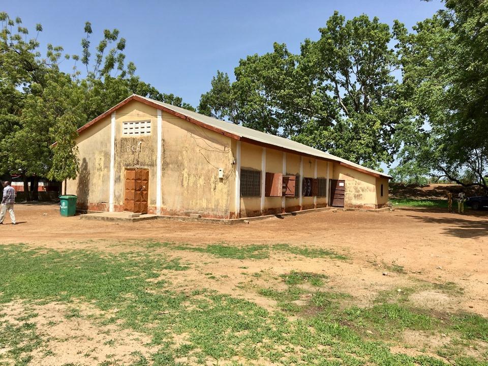 Here is our venue for the day. Good News Bible Church in Sandema, Ghana. — in Sandema Balansa, Upper East, Ghana.