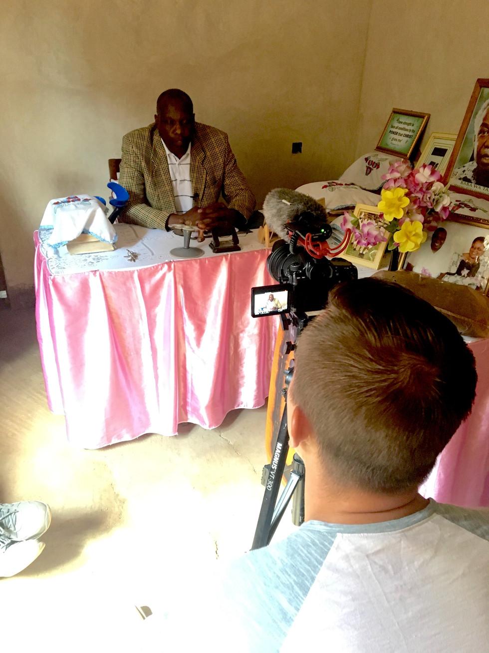 Josh capturing Azikiwe's story