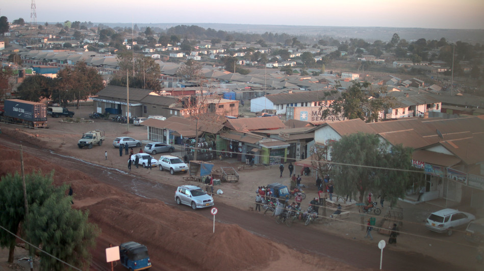 High view over a part of Tunduma