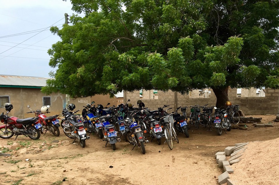 Parking lot for our meetings. — in Chiana Asunia, Upper East, Ghana.