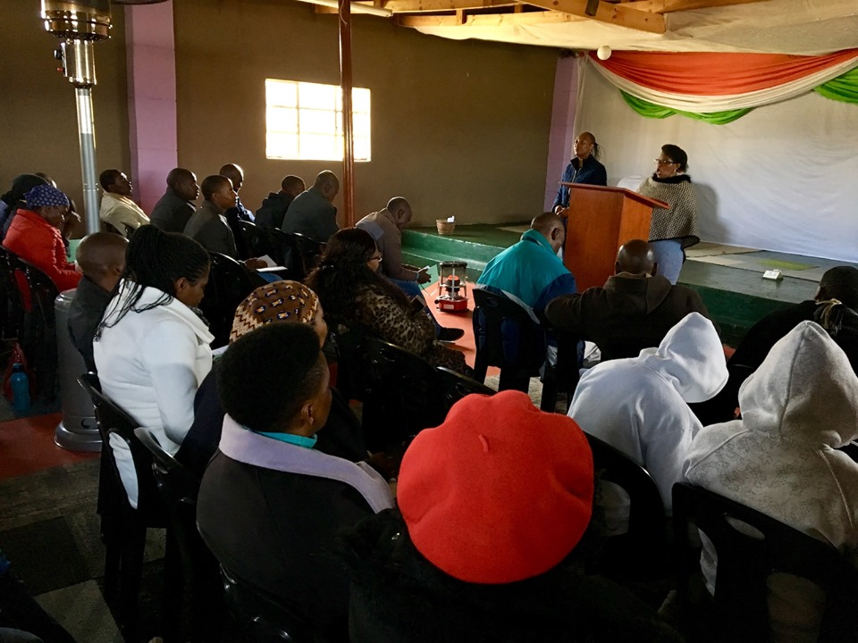 Mamahase teaching on Commitment to the Great Commission. — in Maseru, Lesotho.