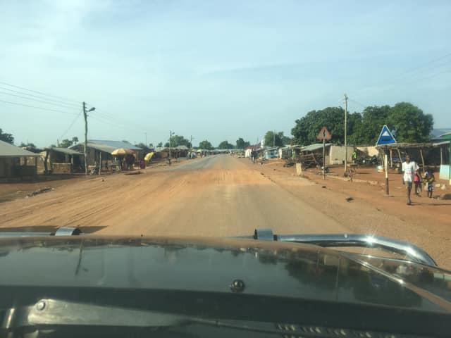 Street scene — in Gbimsi, Northern, Ghana.