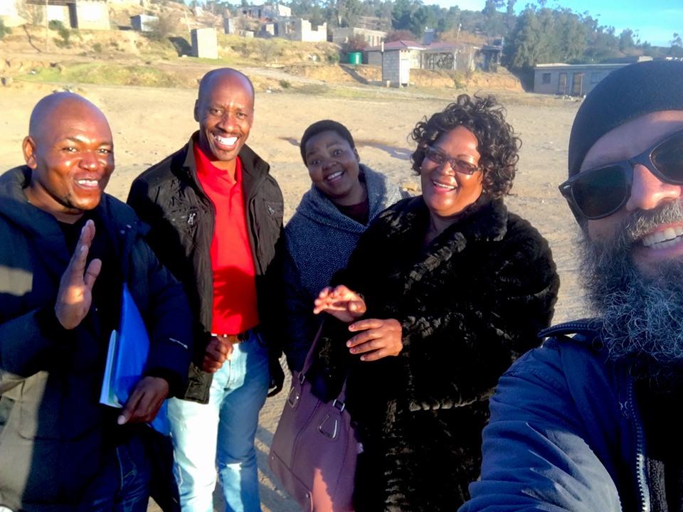 Our outreach team selfie! — with Ntjana Henry Khoabane in Maseru, Lesotho.