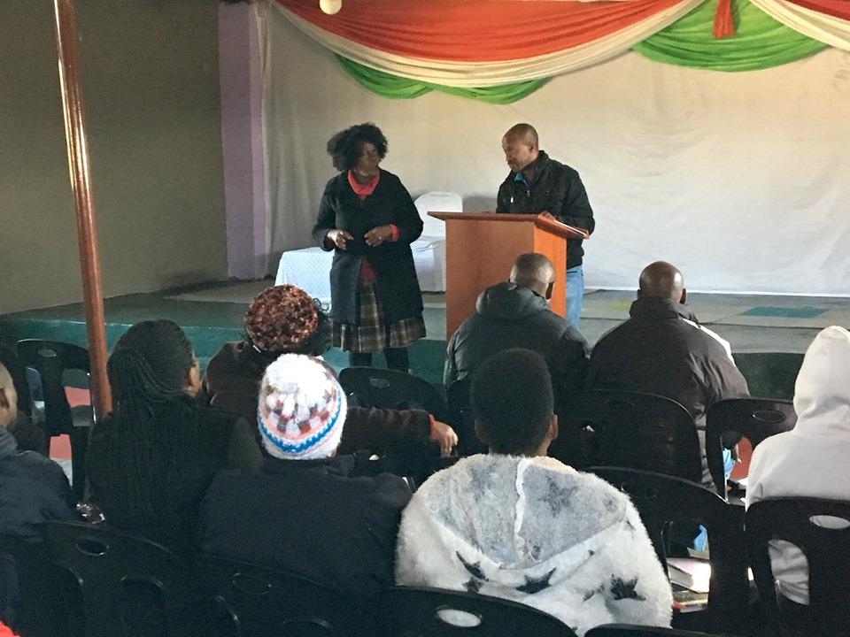 Ntjana Henry Khoabane teaching on local ownership of leading and expanding the movement. — in Maseru, Lesotho.