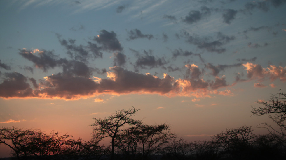 African sunset as we begin the journey to Iringa.