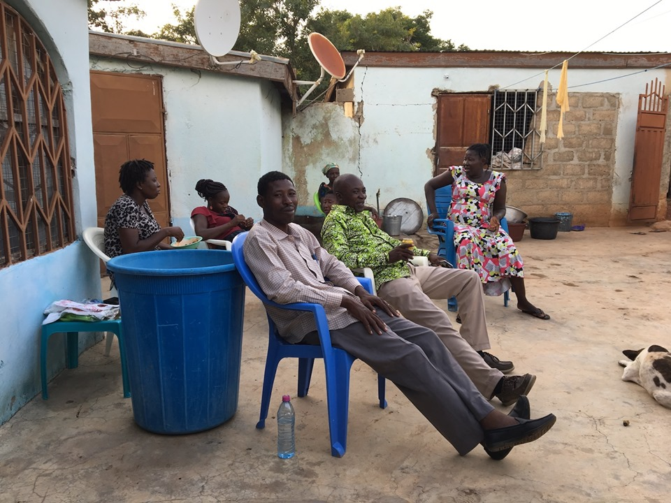 Spending time with the Aputara family and Victor. Perfect way to end a long day. — in Navrongo.
