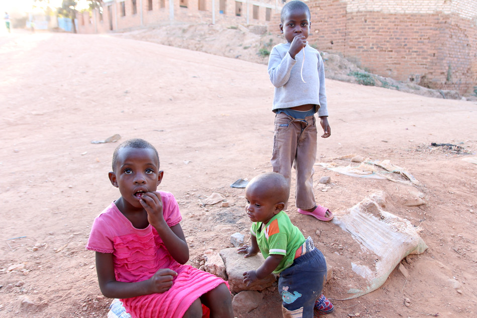 Some of the kids out on the streets of Tunduma