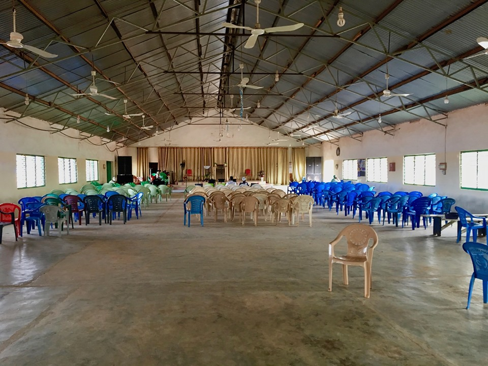 This is what a 9:00a meeting looks like at 9:30a in Africa. :-) By 10:15, there were 42 in attendance. — in Walewale, Northern, Ghana.