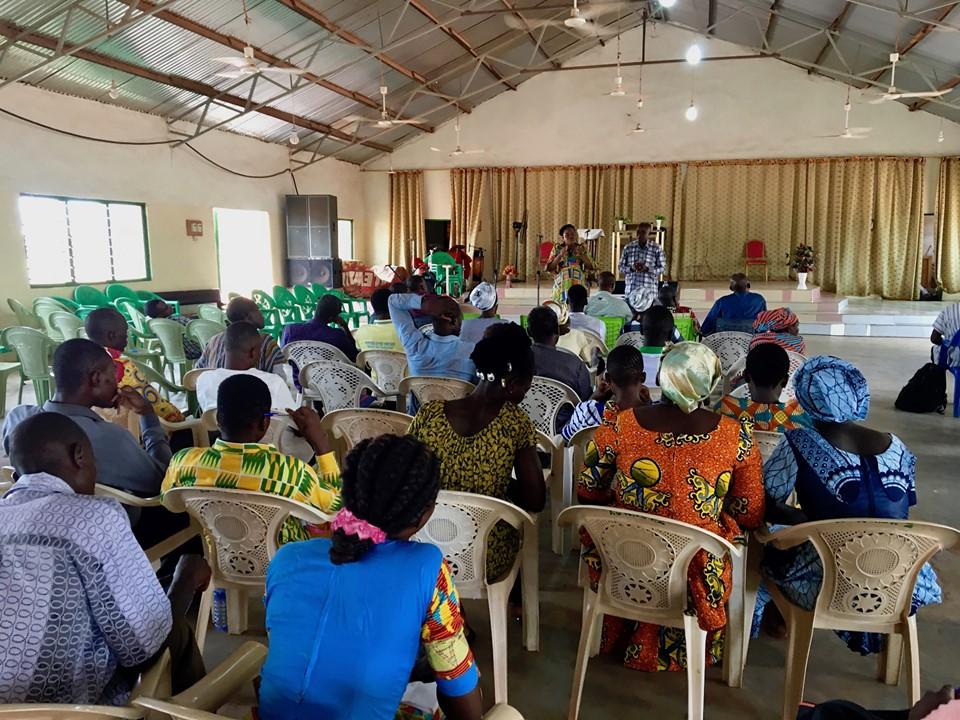 Stephen Aputara speaking to the pastors & leaders. — in Walewale, Northern, Ghana.