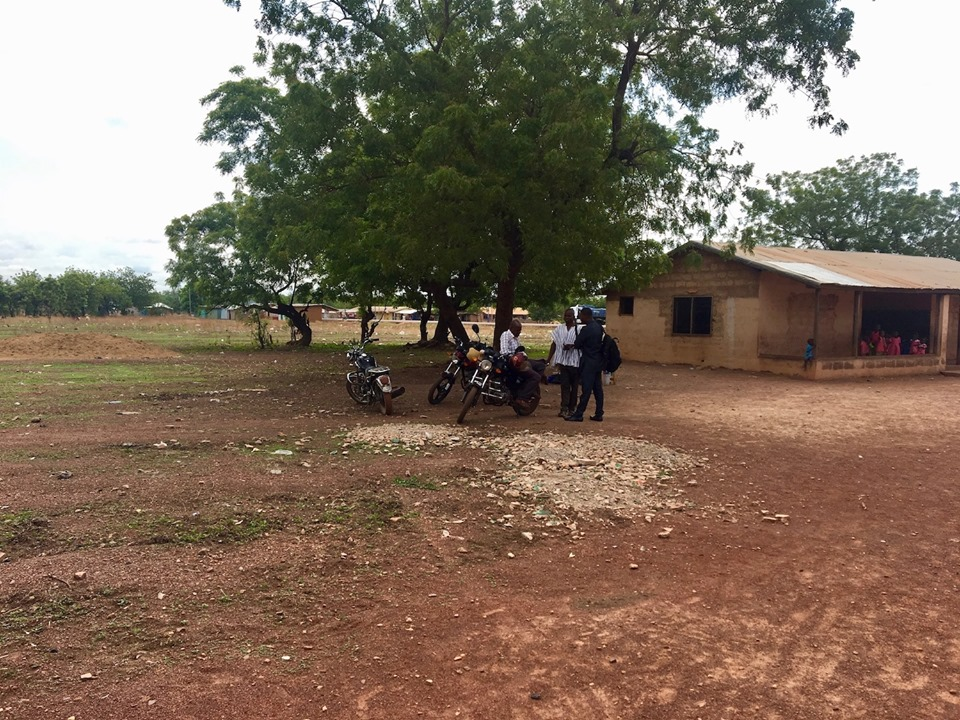 Some of the early pastors gathering for our meeting. — in Walewale, Northern, Ghana.