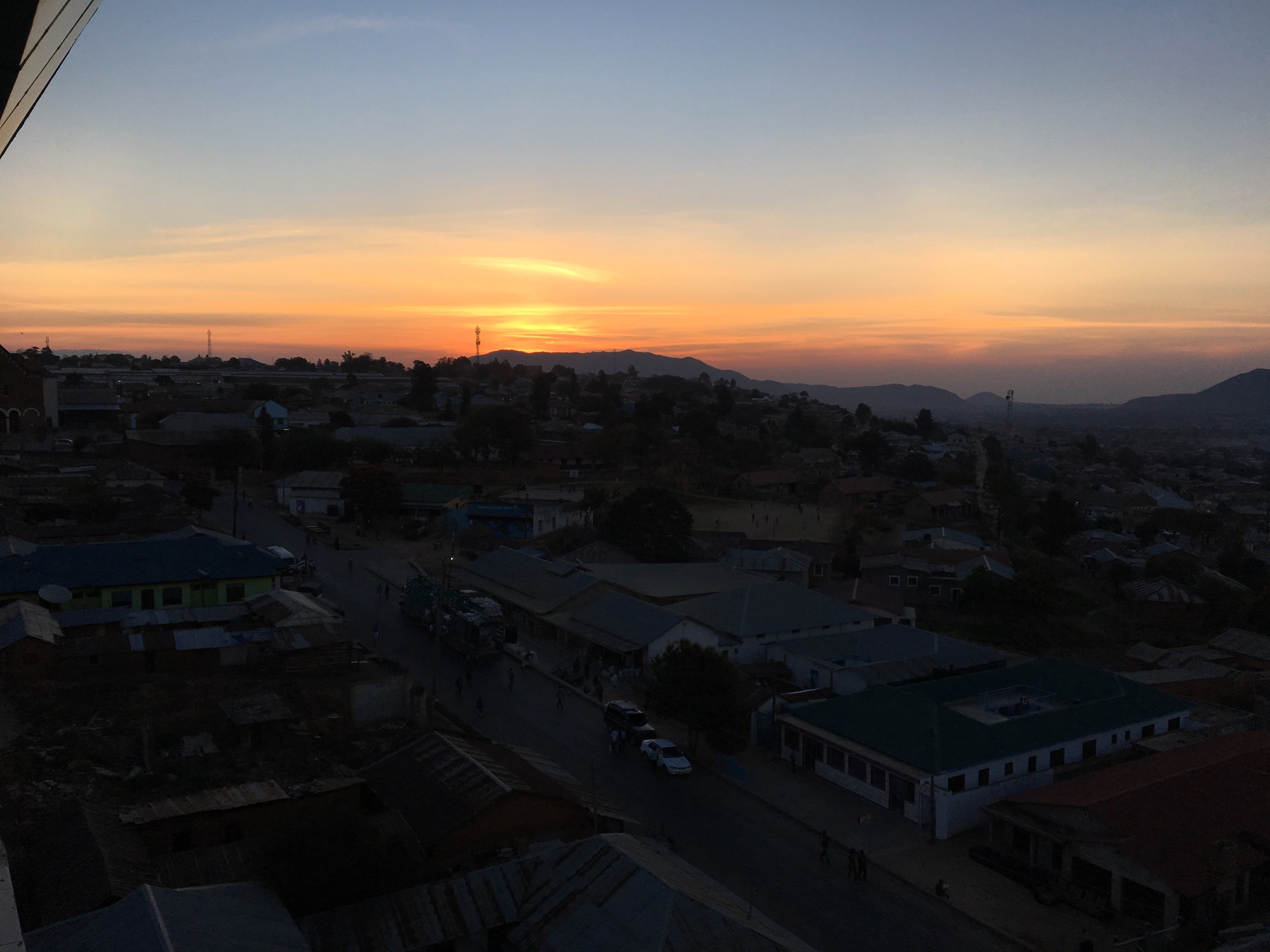 Sunset over Iringa