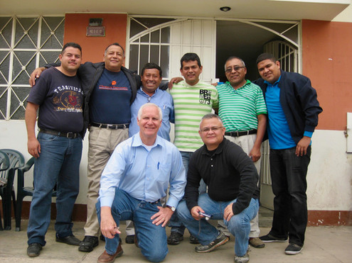 With the team in Colombia