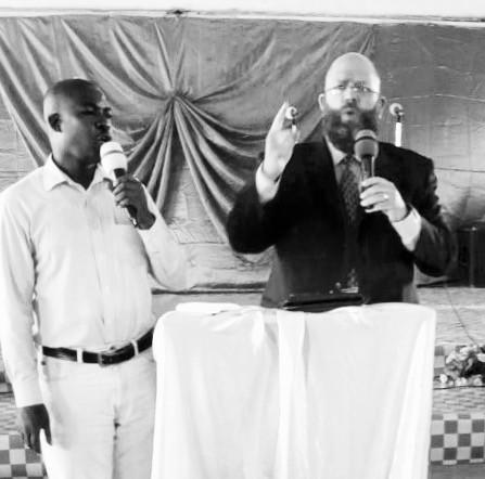 Preaching in Bauleni, Zambia