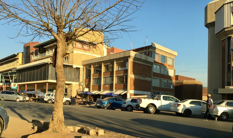 Near downtown Maseru. There are modern places in Africa as well. Most downtown are. — in Maseru, Lesotho.