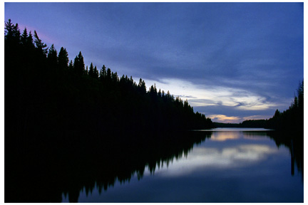 Dusk Over West Blue Lake