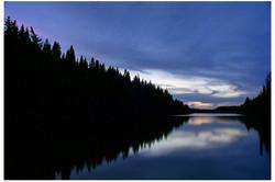 Dusk Over West Blue Lake