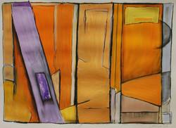 Three Orange Panels