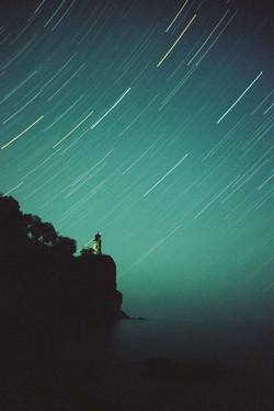 Star Trails Over Split Rock