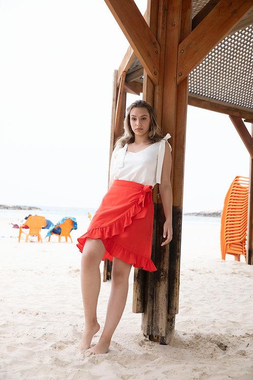 חצאית מרתה - אדום