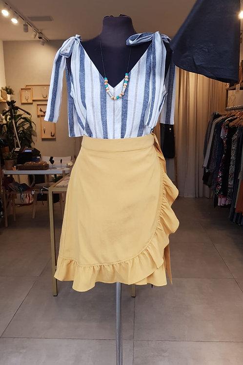 חצאית מרתה - חרדל