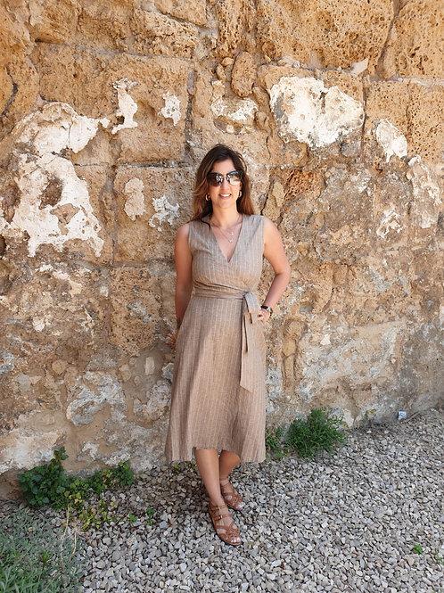 שמלת פריז - פסים אבן