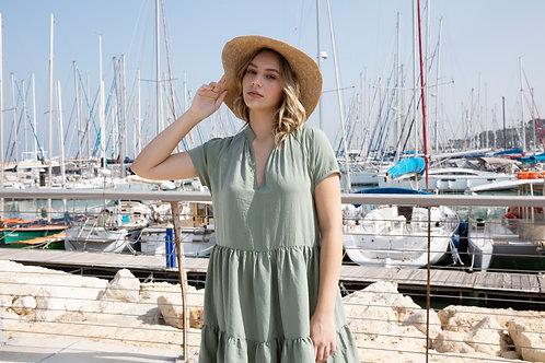 שמלת דיאן - זית