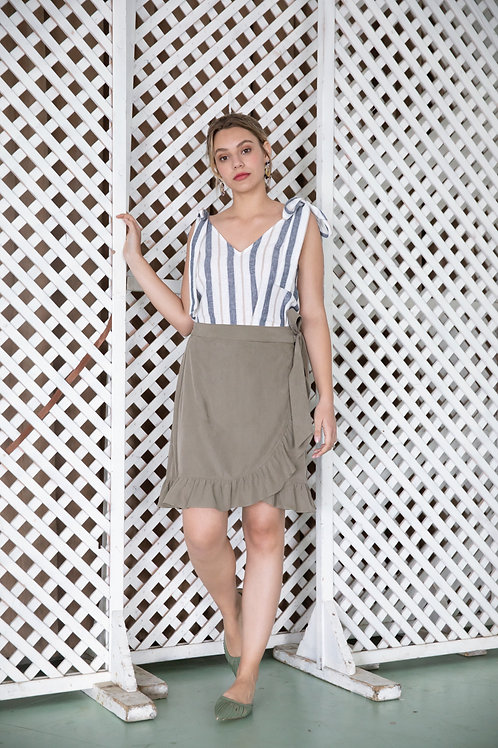 חצאית מרתה - זית