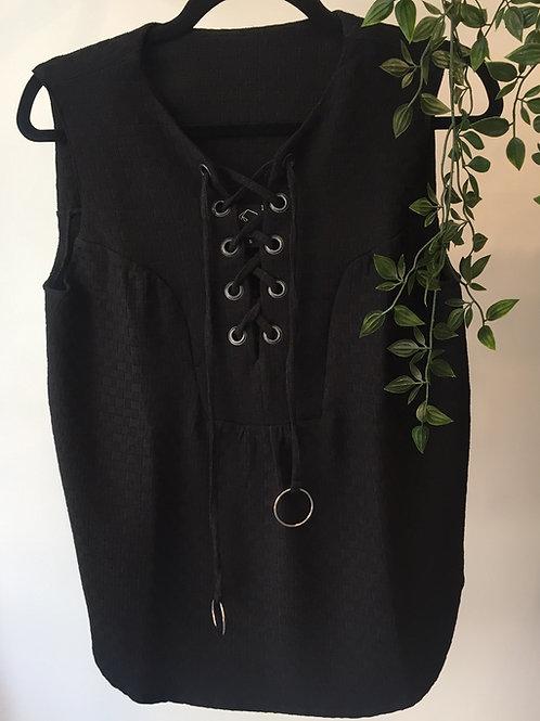 חולצת לולאות - שחור