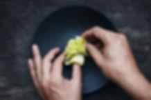 Styling alimentaire sur la plaque