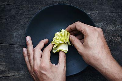 Styling cibo nel piatto