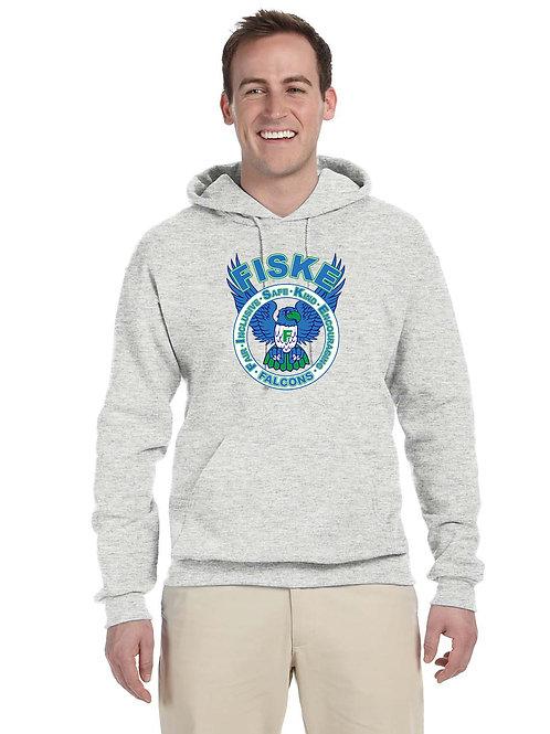 Personalized Adult Hooded Sweatshirt Grey