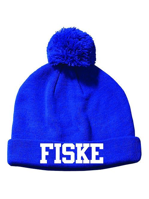 Embroidered FISKE Knit POM Hat