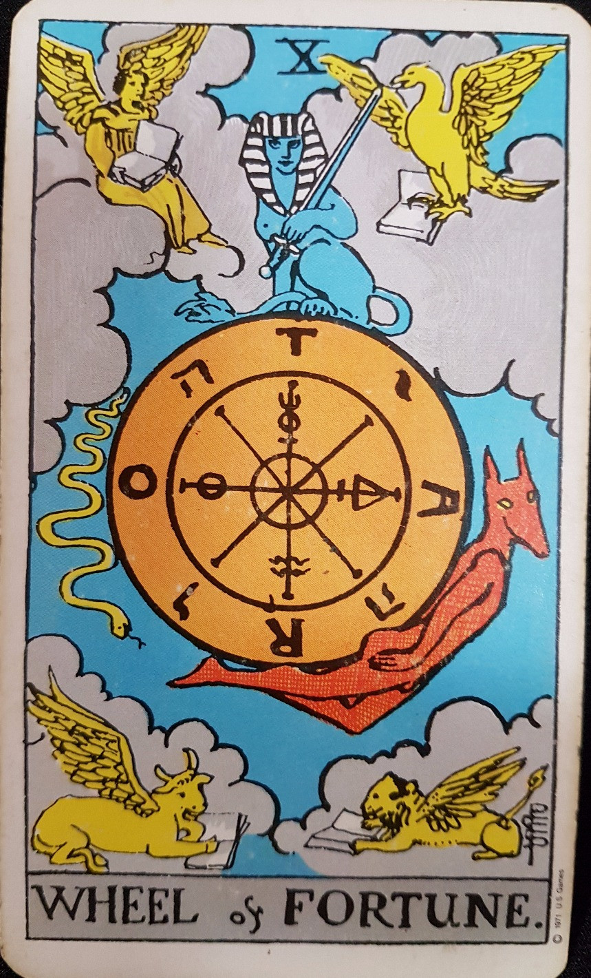 The Wheel of Fortune Card X lynsreadings.com