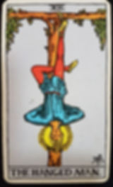 The Hanged Man Tarot Card 12 lynsreadings.com