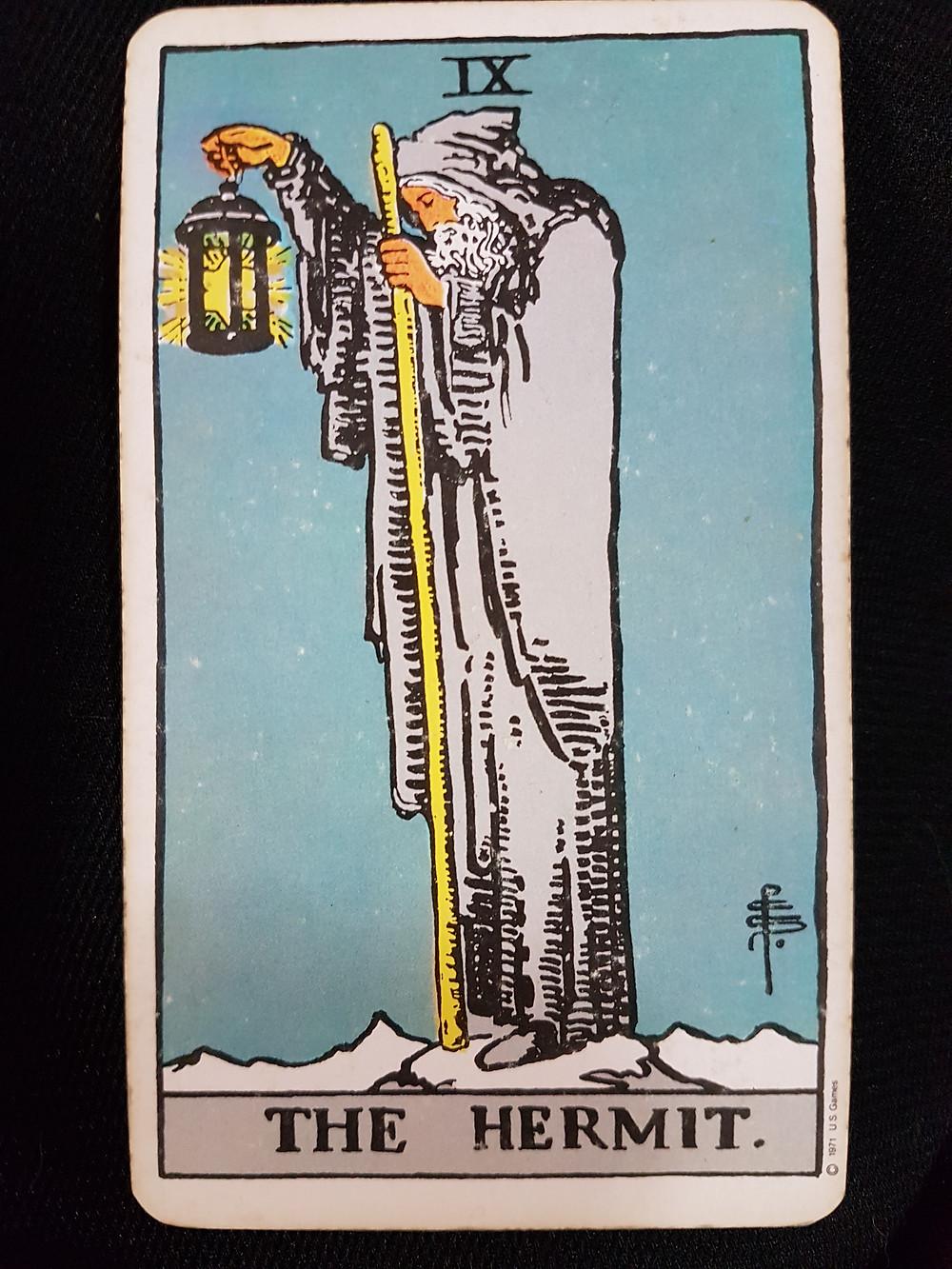 The Hermit Card IX lynsreadings.com