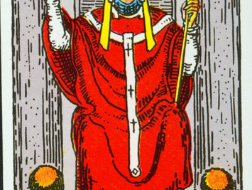 The Hierophant No 5 in the Major Arcana