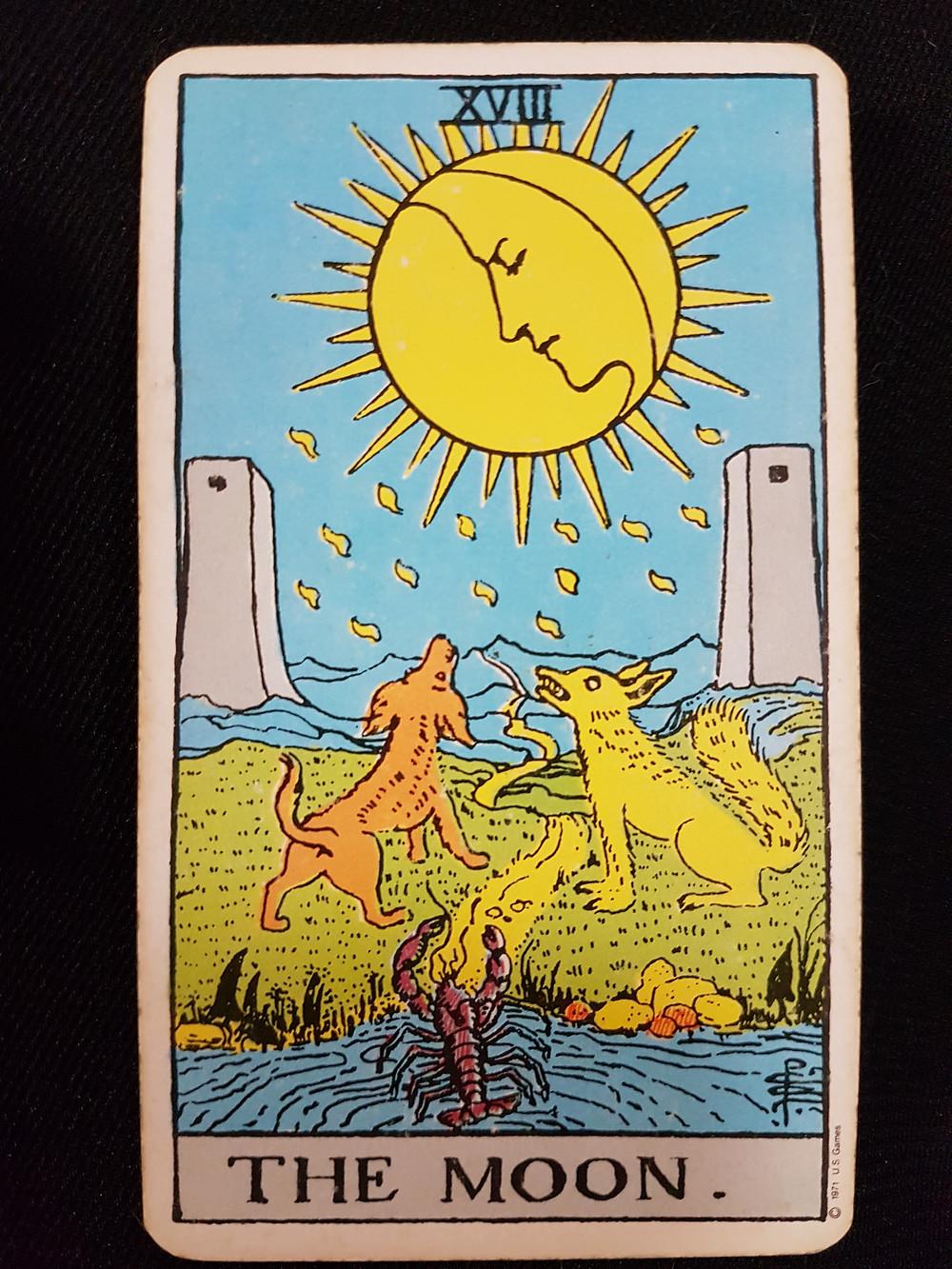 The Moon Card No 18 | lynsreadings.com