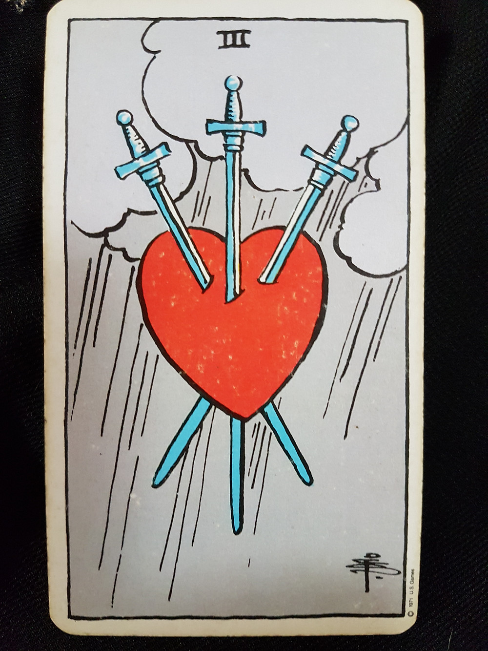 3 of Swords -creative expansion in the difficult suit of stress and strife -lynsreadings.com