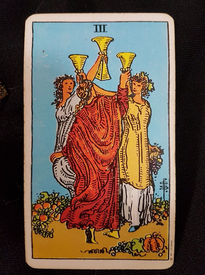3 of cups -lyns readings.com