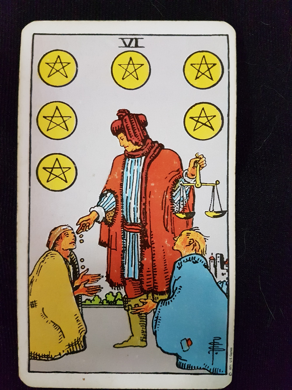 6 of Pentacles - lynsreadings.com