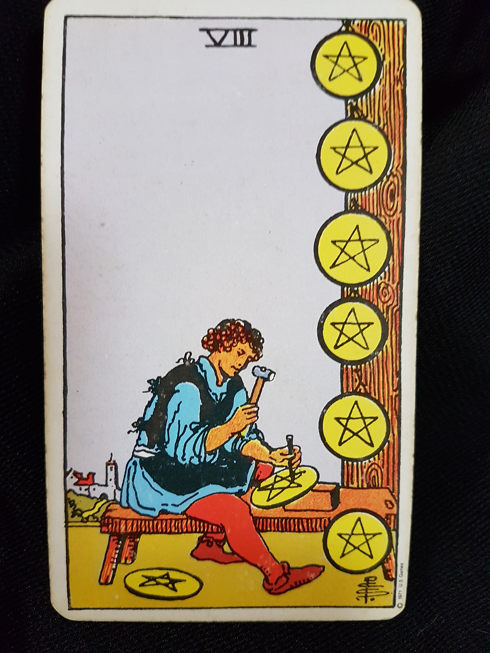 8 of Pentacles - lynsreadings.com