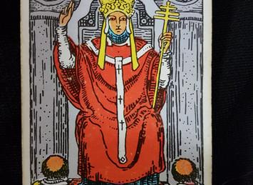 The Hierophant No 5 in the Major Arcana