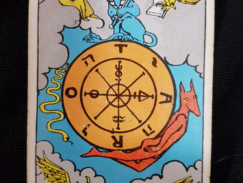 The Wheel of Fortune No 10 in the Major Arcana