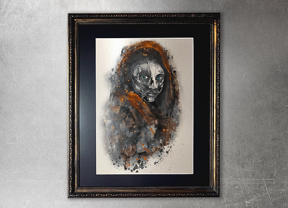 Avaritia limited edition A2 framed gold print