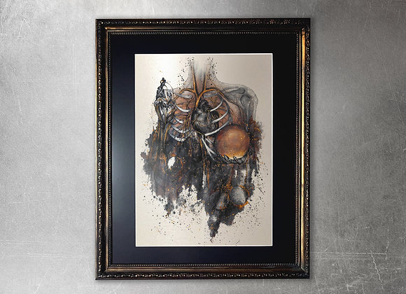 Acedia limited edition A2 framed gold print
