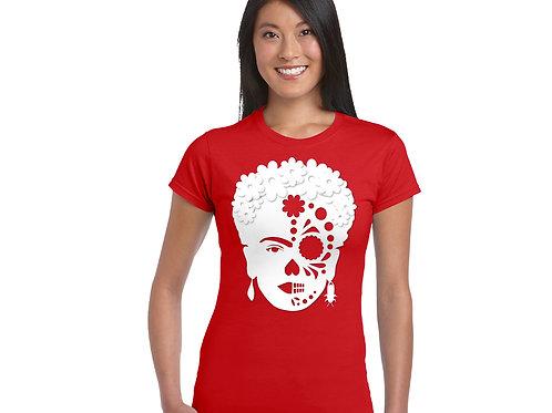 Frida-Skull T-shirt RED