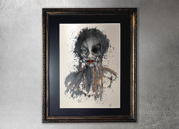 Gula limited edition A2 framed gold print