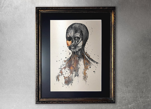 Superbia limited edition A2 framed gold print